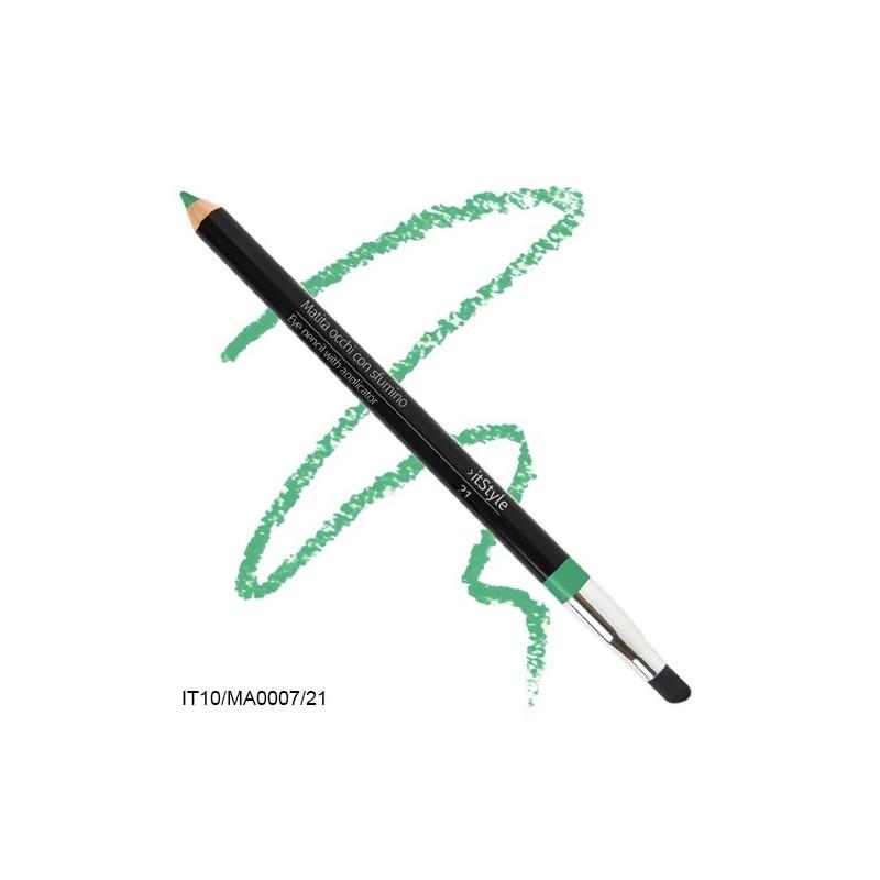Crayon pour les yeux avec tampon itstyle  vert emeraude 21